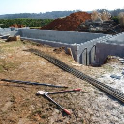construction d'une pisicne enterrée