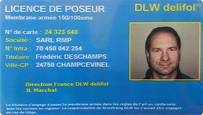 Licence de poseur de Mr Deschamps